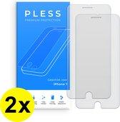 2x Screenprotector iPhone 7 - Beschermglas Tempered Glass Cover - Pless®