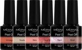 MEANAIL - 6 kleuren PEEL OFF gellak - SECRET - Gel nagellak - 6 x 8ml