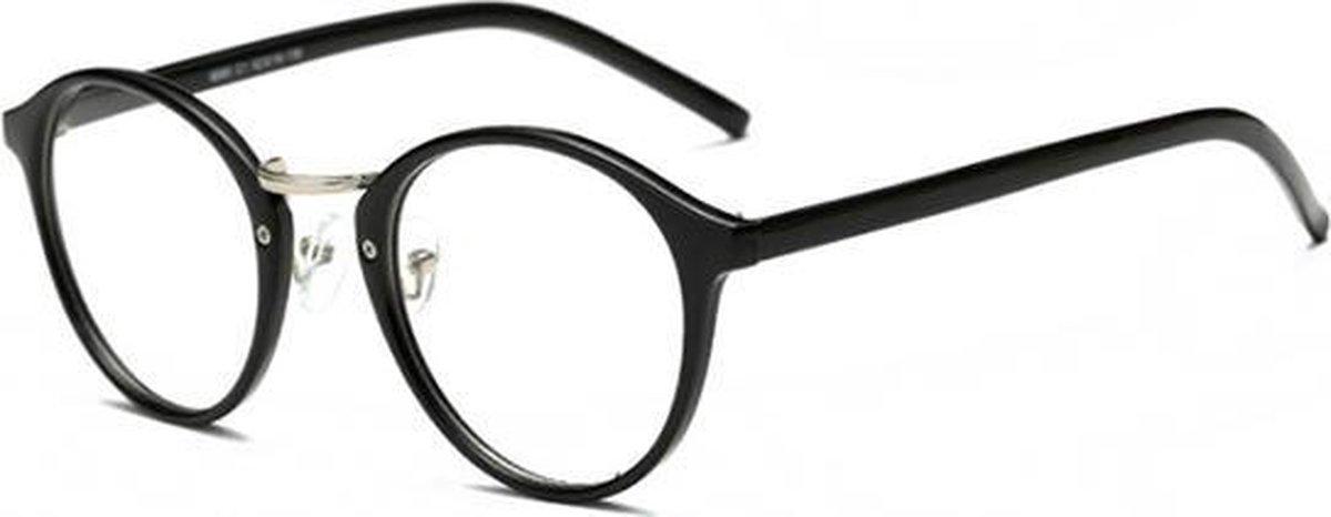 Retro Bril zonder sterkte Mat Zwart kopen