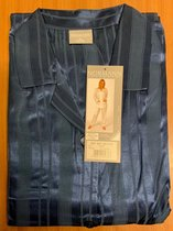 Dames pyjama Normann satijn 94010 - Blauw - M 40/42