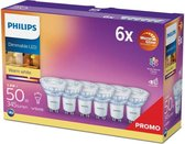 Philips LED Spot - GU10 lichtbron - Warm wit licht - Dimbaar - 6-pack - 3,8W