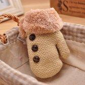 MINIIYOU - Winter wantjes meisjes 1-3 jaar | handschoenen kind beige | wantjes met koord en voering dreumes