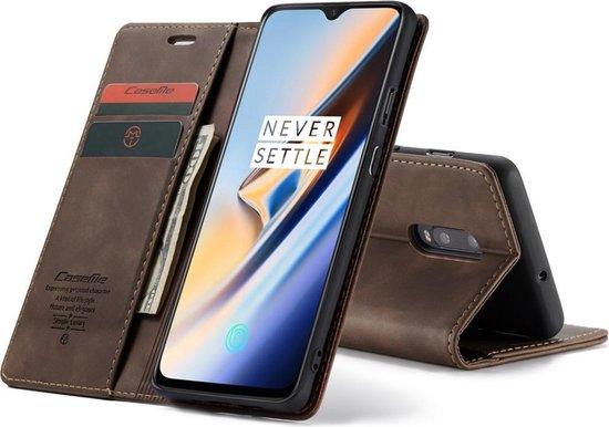 OnePlus 7 Hoesje - CaseMe Book Case - Donkerbruin