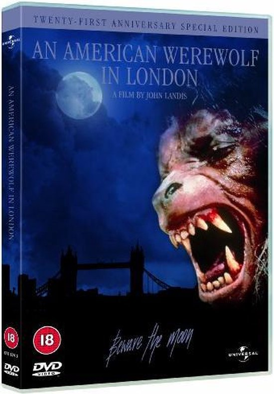 Cover van de film 'An American Werewolf In  London'