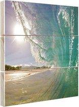 Golven Oceanie  Hout 20x30 cm - klein - Foto print op Hout (Wanddecoratie) / Zee en Strand