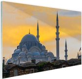 Istanbul Midden-Oosten Glas 180x120 cm - Foto print op Glas (Plexiglas wanddecoratie) XXL / Groot formaat!