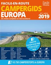 Boek cover Facile-en-Route Campergids 2019, 10.750 camperplaatsen in Europa van Facile Media B.V. (Paperback)