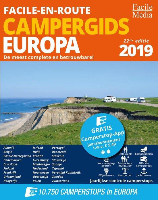 Facile-en-Route Campergids 2019, 10.750 camperplaatsen in Europa - Facile Media |