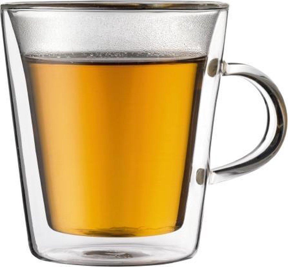Bodum Canteen Dubbelwandig Glas - Met oor - 0,2 l - 2 stuks - Bodum