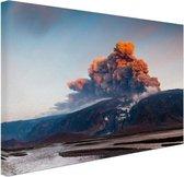 Vulkaan schoonheid van de natuur Canvas 30x20 cm - klein - Foto print op Canvas schilderij (Wanddecoratie woonkamer / slaapkamer)