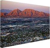 Las Vegas en omgeving Canvas 120x80 cm - Foto print op Canvas schilderij (Wanddecoratie woonkamer / slaapkamer) / Steden Canvas Schilderijen