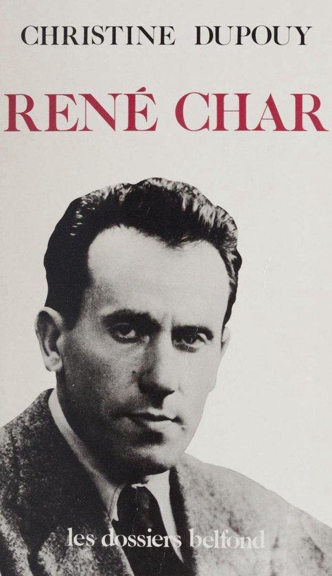 Boek cover René Char van Christine Dupouy (Onbekend)