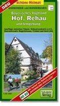 Radwander- und Wanderkarte Bayrisches Vogtland Hof, Rehau und Umgebung 1 : 35 000