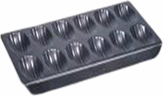 Point-Virgule Bakvorm - Madeleines - 12 Stuks - Anti-aanbaklaag - 40x21x2cm