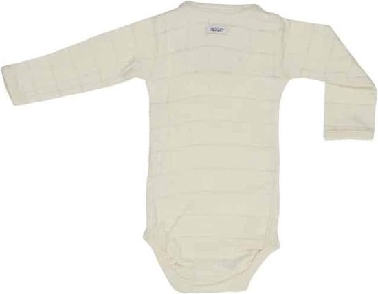 Lodger Rompertje Baby - Romper Solid - Ivoor - Lange mouw - 56