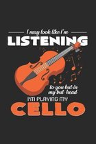 I'm playing my cello: 6x9 Cello - grid - squared paper - notebook - notes