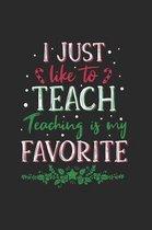 Christmas Teacher Elf Notebook