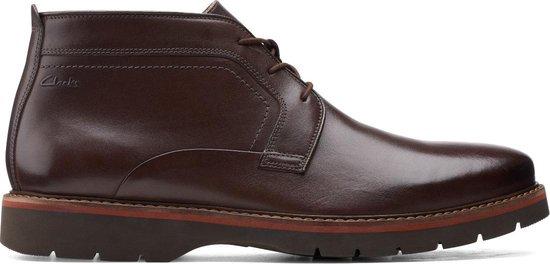 Clarks - Herenschoenen - Bayhill Mid - G - dark brown leather - maat 10,5