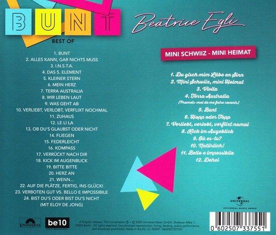 Bol Com Bunt Best Of Deluxe Edition Beatrice Egli Cd Album Muziek