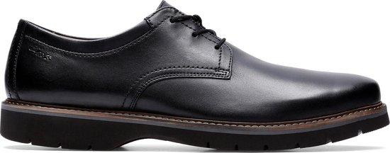 Clarks - Herenschoenen - Bayhill Plain - H - black leather - maat 9,5
