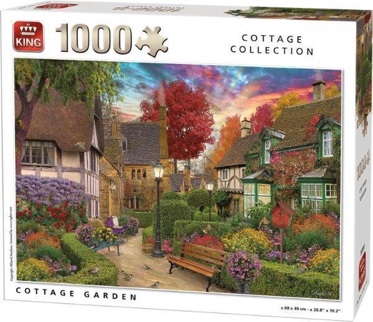 Prachtige herfsttuin puzzel - Cottage Garden -  1000 stukjes
