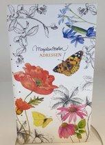 Adresboek Marjolein Bastin vlinders en bloemen