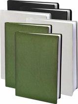 Dresz Rekbare Boekenkaft - Army (zwart / grijs / groen) - A4 - 6-pack