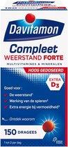 Davitamon Compleet Weerstand Forte met vitamine D - Multivitaminen en mineralen - Dragees 150 stuks