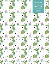 College Ruled Notes 110 Pages: Cactus Floral Notebook for Professionals and Students, Teachers and Writers - Teepee and Cactus Pattern