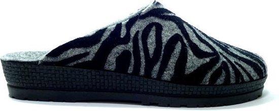Rohde 2288 Pantoffel Zebra Grijs