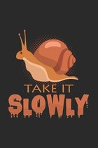 take it slowly: 6x9 Snail - dotgrid - dot grid paper - notebook - notes