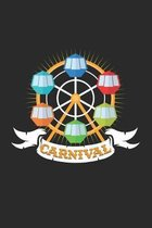 Carnival: 6x9 Carnival - grid - squared paper - notebook - notes
