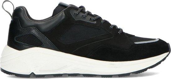 Sacha - Heren - Zwarte leren sneakers - Maat 46