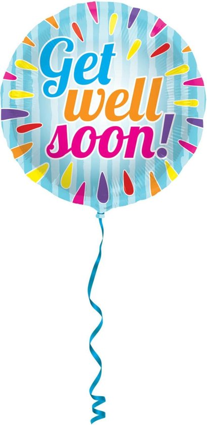 Folieballon - Get well soon - 45cm - Zonder vulling