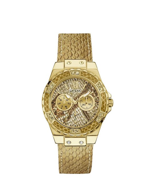 GUESS Watches -  W0775L13 -  horloge -  Vrouwen -  RVS - Goudkleurig -  39  mm