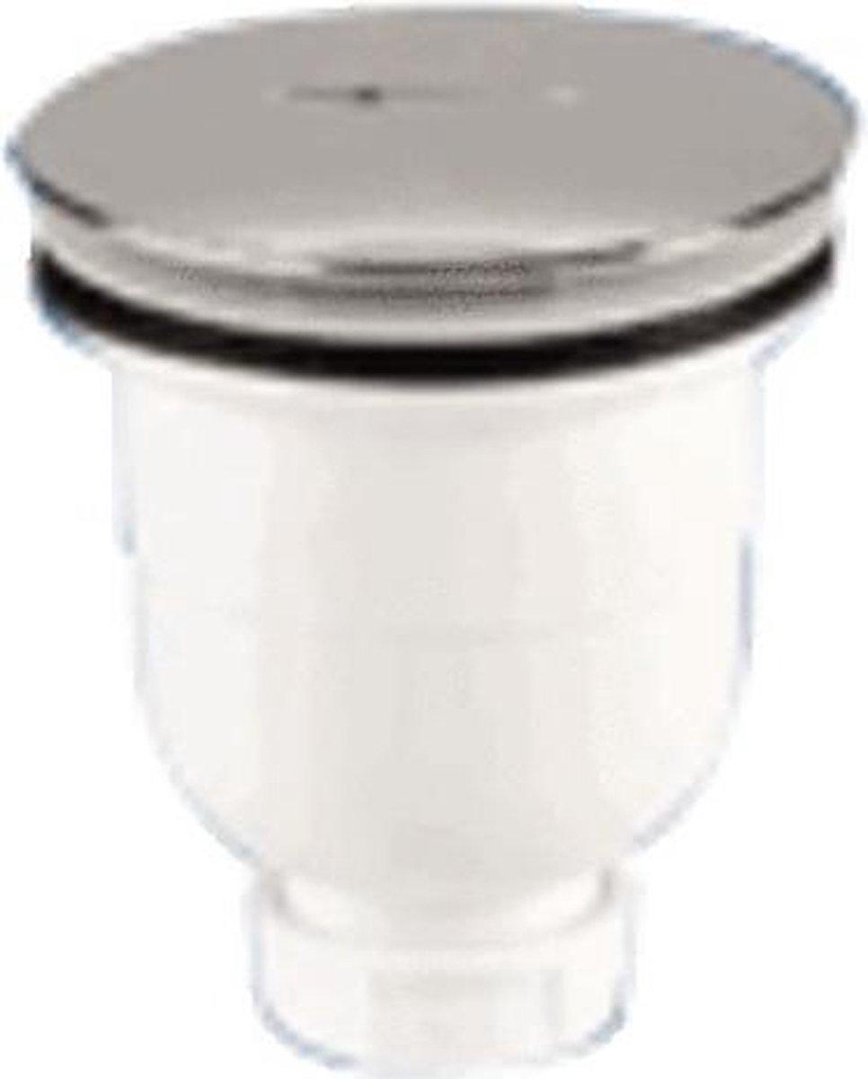 Nemo Go doucheplug met ingebouwde sifon voor douches met afvoeropening D 90 mm aansluiting op afvoerbuis met D 40 mm ABS verchroomd deksel verticale uitloop