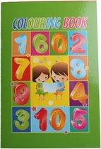 Lg-imports Kleurboek Met Stickers Cijfers 21 X 14,5 Cm Groen