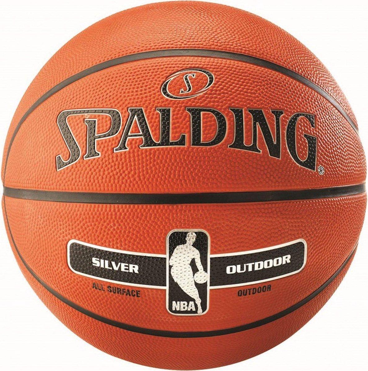 Spalding basketbal NBA Silver series rubber maat 7