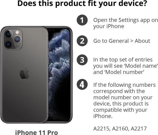 Apple Leren Hoesje voor iPhone 11 Pro - Zwart