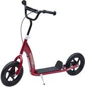 PlayGoodz - Step - Autoped - Step scooter - voor kinderen en volwassenen - Luchtbanden 12 inch - Rood