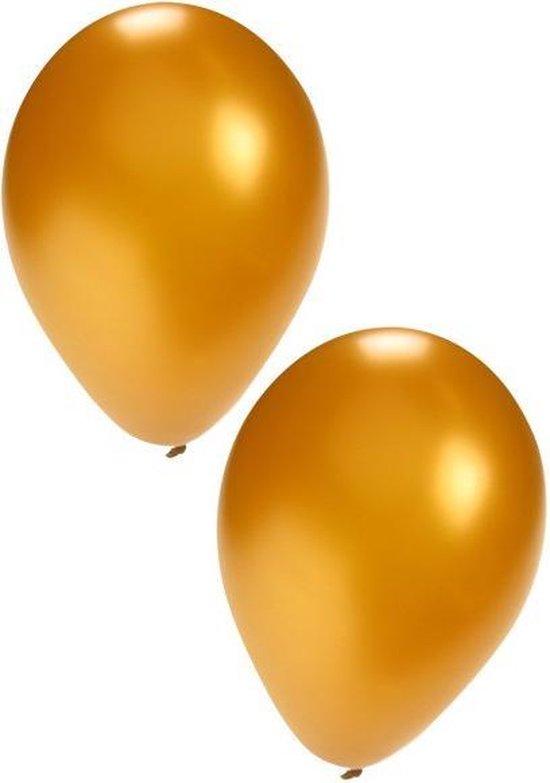 Gouden ballonnen 25 stuks | Ballonnen goud voor lucht en helium