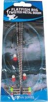 """Eurocatch Fishing Flatfish Rig Twisted Metal Boom 3-Hooks - Maat 4 - """