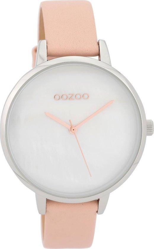 OOZOO Timepieces Roze/Wit horloge (40 mm) – Roze