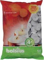 Bolsius Waxinelichtjes - 100 Stuks - Wit
