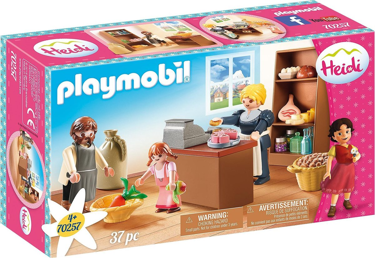 PLAYMOBIL Heidi - Buurtwinkel van de Kellers - 70257