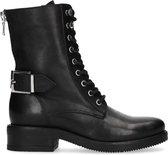 Sacha - Dames - Zwarte biker boots met gesp - Maat 40