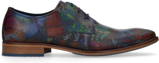 Sacha - Heren - Veterschoenen met gekleurde vlinder print - Maat 42