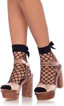 Leg Avenue Sokken Bow Net Zwart