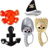 Lg-imports Strandspeelgoed Piraten 5-delig Multicolor 19 Cm