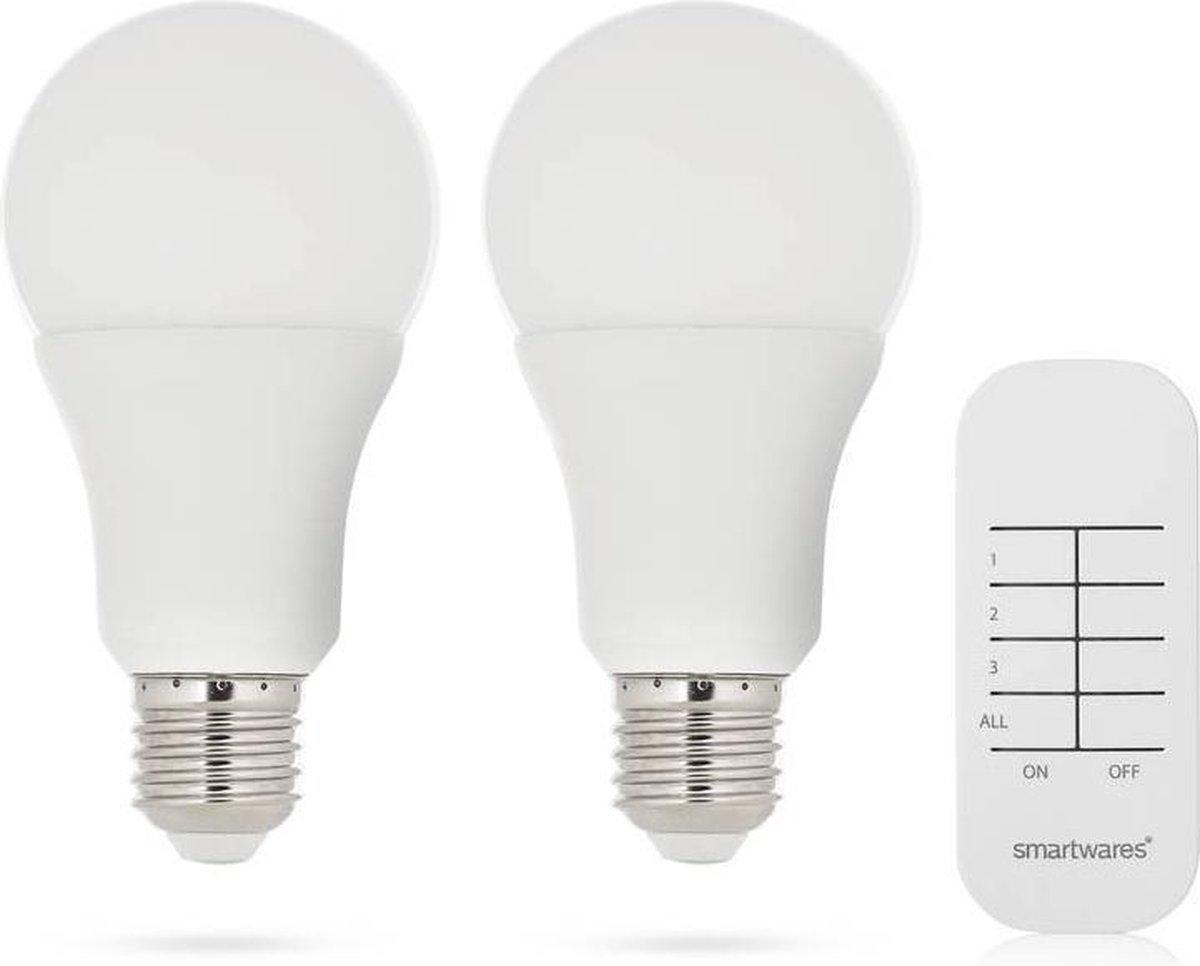 Smartwares SH4-99550 LED bulb schakelset - 2 7W LED-lampen - Incl. afstandsbediening